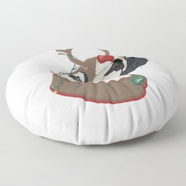 Pug Christmas Floor Pillow