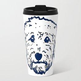 Goldendoodle dog face silhouette - perfect Golden doodle gift idea Travel Mug