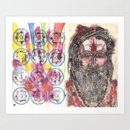 Tantric 1 (Travel Journal Entry) Art Print