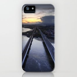 Loughor estuary road and rail bridges iPhone Case