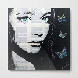 Yekaterina with butterflies Metal Print