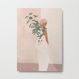 Carrying the Plant Metal Print