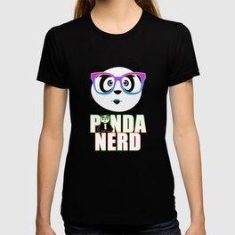 Panda Nerd Girl - Rainbow T-shirt