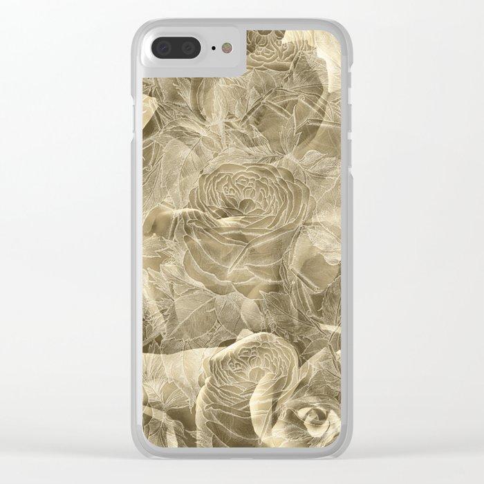 Nostalgia 3 - Sepia Tone Clear iPhone Case