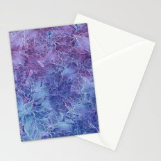 Frozen Leaves 4 Stationery Cards