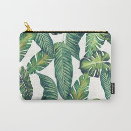 Jungle Leaves, Banana, Monstera II #society6 Carry-All Pouch