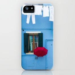 Burano, Italy Laundry Day iPhone Case