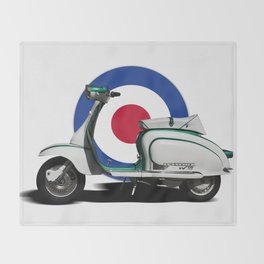 Mod scooter Throw Blanket