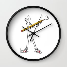 DIDI's pencil Wall Clock