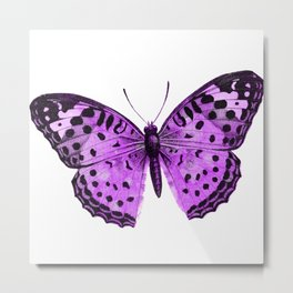 Luxurious Lilac-Pink Butterfly Metal Print
