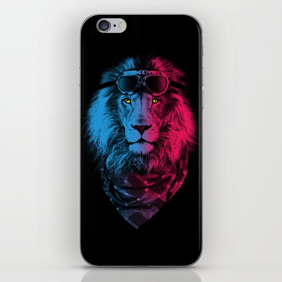 lion rider iPhone & iPod Skin