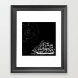 If Time Is My Vessel Framed Art Print