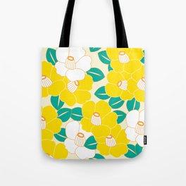 Shades of Tsubaki - Yellow & White Tote Bag