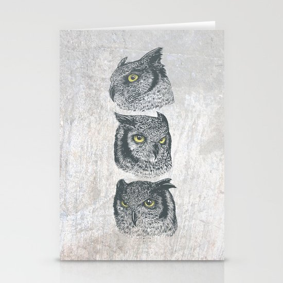 Three Owls Stationery Cards