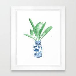 Ginger Jar + Bird of Paradise Framed Art Print