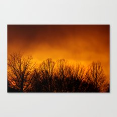Too Close to the Fire Canvas Print