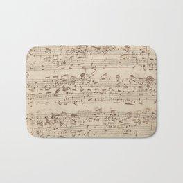 Old Music Notes - Bach Music Sheet Bath Mat