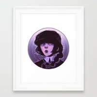 goth Framed Art Prints featuring shoujo goth by Frank Odlaws