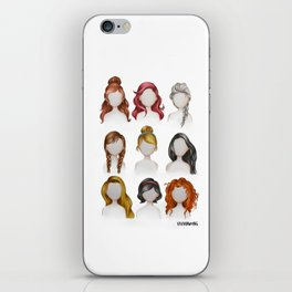 Dis ney Princess Hairstyles Drawing iPhone Skin