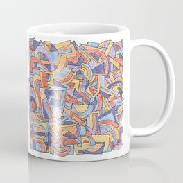 Party in Orange and Blue Coffee Mug