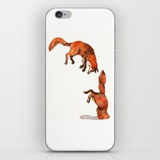 Jumping Red Fox iPhone Skin