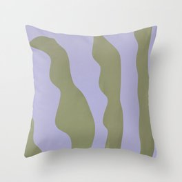 Abstract plant home decor art, minimal, unique  Throw Pillow