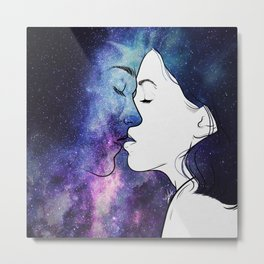 Kisses from the universe. Metal Print