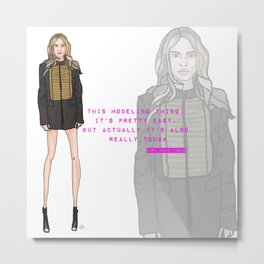 This Modeling Thing - Cara Delevingne Metal Print