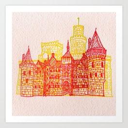 Letterpress Castle 2 Art Print