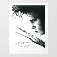 edward scissorhands Art Prints featuring Edward Scissorhands by Simona Borstnar