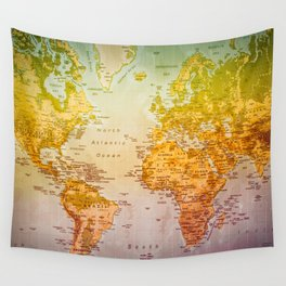 Colorful World Wall Tapestry