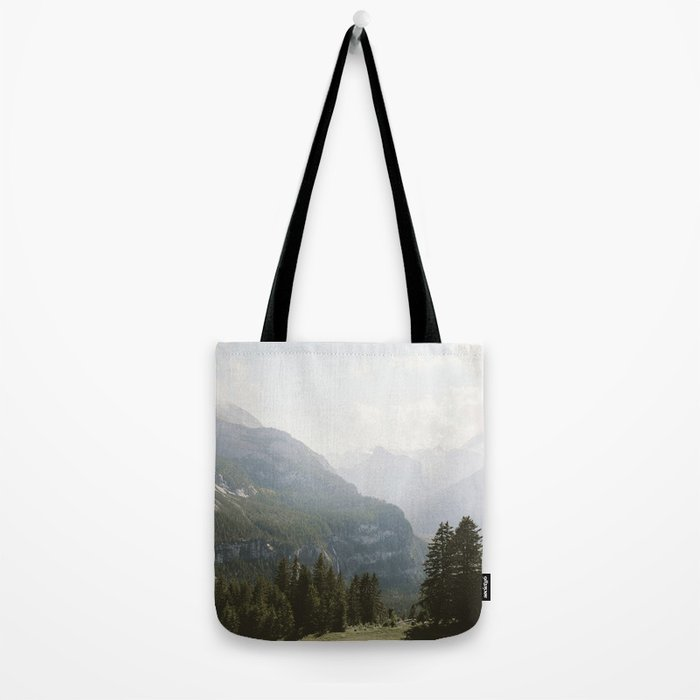 A Switzerland Mountain Valley - Landscape Photography Tote Bag
