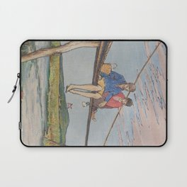 Dropping flowers in the stream Laptop Sleeve