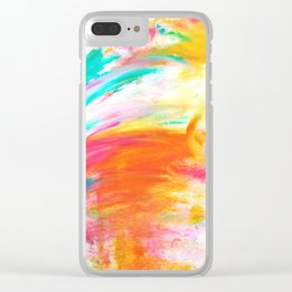 Swoop of Summer Clear iPhone Case