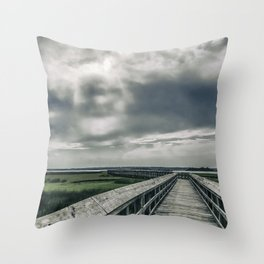 Man In The Clouds Throw Pillow