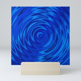 Water Moon Cobalt Swirl Mini Art Print