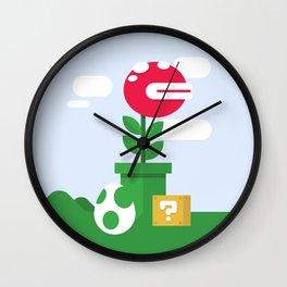 Pirahna Plant - Super Mario World Wall Clock
