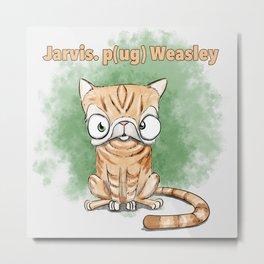 Jarvis Pug Weasley Metal Print
