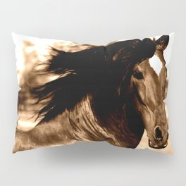 Horse print horse photography equestrian art sepia Poster Pillow Sham