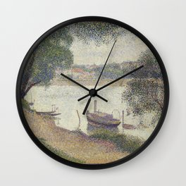 Gray weather, Grande Jatte Wall Clock