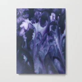 floating violets Metal Print