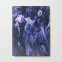 floating violets Metal Print
