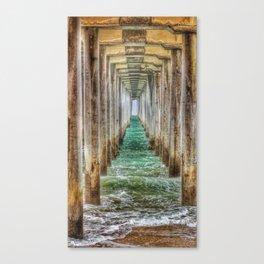 Huntington Beach Pier Tunnel Vision Canvas Print
