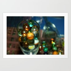 Marbles in Glass Art Print