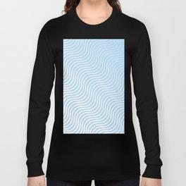 Whiskers Light Blue & White #285 Long Sleeve T-shirt