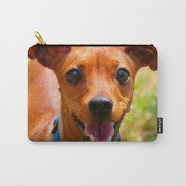 Pinscher Smiling Blue Collar Dog Carry-All Pouch