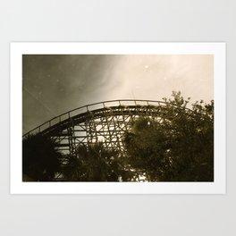 Abandoned Coaster III Art Print