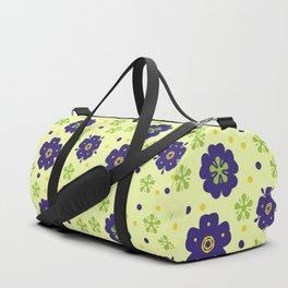Colorful Japanese geometric flowers Duffle Bag