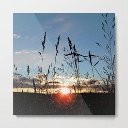 Watercolor Sunset, Fljotshlid 03, Iceland Metal Print