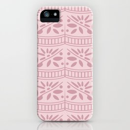 floral lace ruffle seamless repeat pattern in fairy wing and little piglet iPhone Case